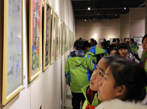全国少儿美术作品展巡展(东海站)在东海县隆重开幕